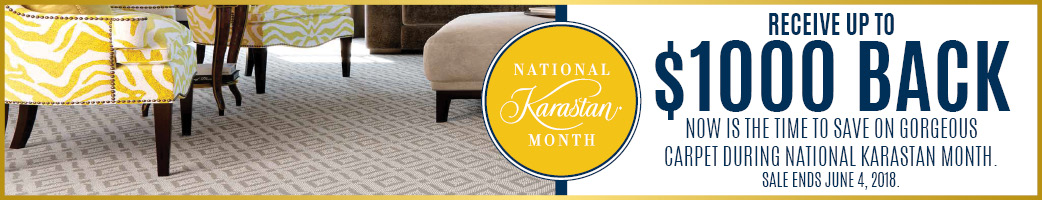 Receive up to $1000 back on carpet during national Karastan Month!