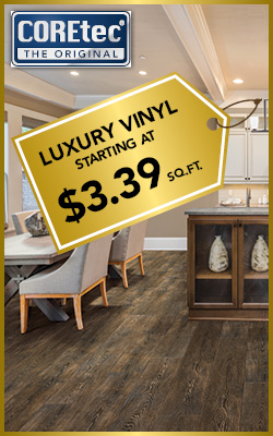 Luxury Vinyl starting at $3.39 sq.ft. during the National Gold Tag Flooring Sale at Ultimate Flooring & Paint in Dexter!