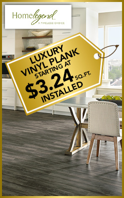 Luxury Vinyl Plank starting at $3.24 sq.ft. installed during the National Gold Tag Flooring Sale at Ultimate Flooring & Paint in Dexter!
