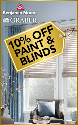 10% OFF Paint & Blinds during the National Gold Tag Flooring Sale at Ultimate Flooring & Paint in Dexter!